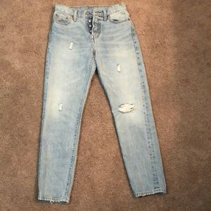 Levi's wedgie jeans.
